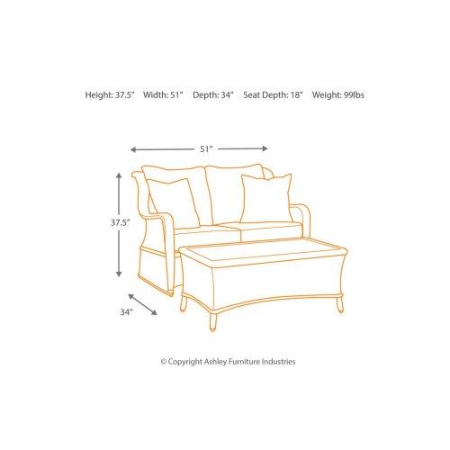 Loveseat Glider W/table (2/cn)