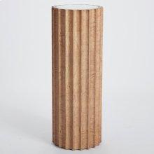 Reflective Column Pedestal-Olive Ash Burl