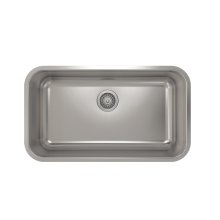 ProInox E200 Single Bowl Undermont Kitchen Sink ProInox E200 18-gauge Stainless Steel, 29'' x 16 '' x 9''