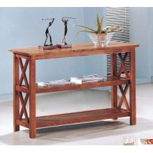 Casual Medium Brown Sofa Table