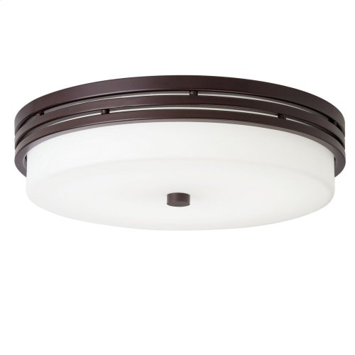"Ceiling Space 14"" LED Flush Mount Olde Bronze®"