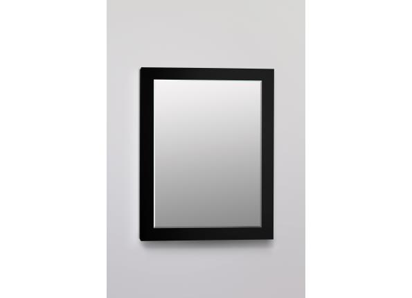 Decorative Framed Cabinet, Black Glass