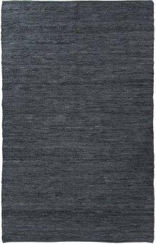Woven Leather Slate Blue Rug 5' X 8'