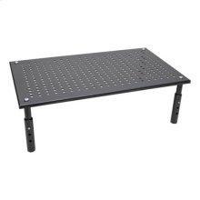 Monitor Riser for Desk, 18 x 11 in. - Height Adjustable, Metal, Black