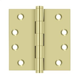 "4""x 4"" Square Hinges - Unlacquered Brass"