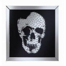 Contemporary Black Skull Wall Mirror