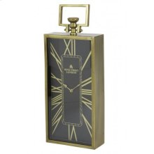 Clock 20x10x51 cm LONDON antique bronze-black