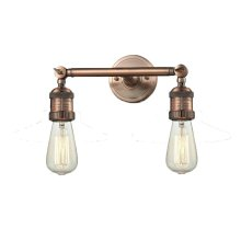 208-AC - BARE BULB 2 LT WALL SCONCE