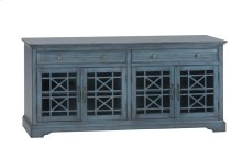 "Craftsman Antique Blue 70"" TV Console"