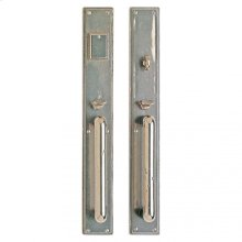 """Stepped Entry Set - 2 3/4"""" x 20"""" White Bronze Brushed"""