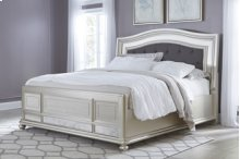 Queen Coralayne Panel Bed w/Rails