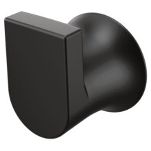 Genta matte black single robe hook