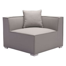 Fiji Corner Chair Gray Product Image