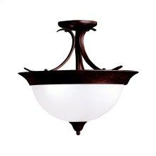 Dover Collection Dover 3 Bulb Semi Flush Ceiling Light TZ
