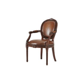 A Hand Carved Neo-classical Open Armchair After Adam, #plain#