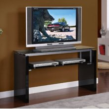 """50"""" """"Gloss Black"""" Open Console TV Stand"""