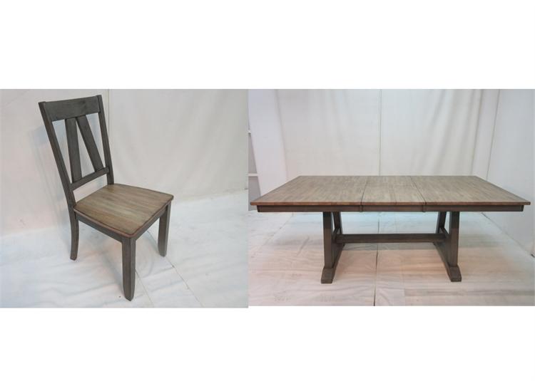 Merveilleux 5 Piece Trestle Table Set