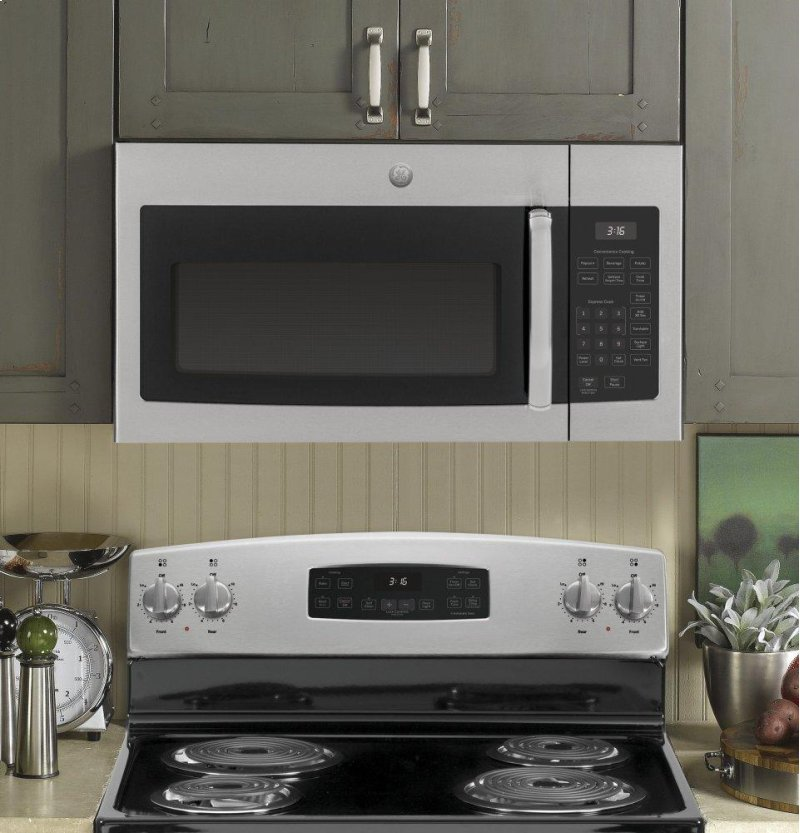 Hidden Additional Ge 1 6 Cu Ft Over The Range Microwave Oven With
