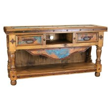 "Turquoise Copper 60"" TV Console"
