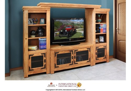 "50"" TV Stand w/2 glass doors"