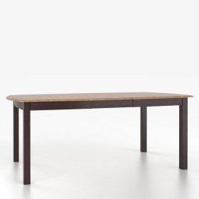 Boat shape table with legs