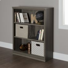 3-Shelf Bookcase - Gray Maple