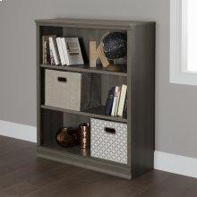 3-Shelf Bookcase - Gray Maple