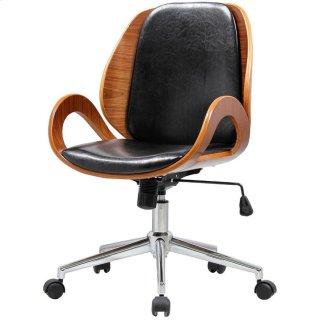 Cleo Office Chair, Black/Walnut