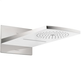 White/chrome Raindance Rainfall AIR 180 2-Jet Showerhead Trim, 2.5 GPM