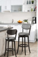 Sloan Swivel Counter Stool - Black Pewter Product Image