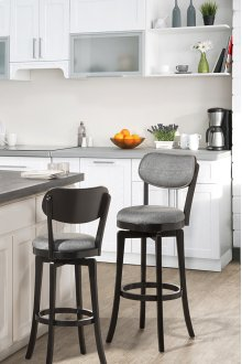 Sloan Swivel Counter Stool - Black Pewter
