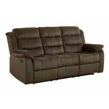 Rodman Chocolate Reclining Sofa
