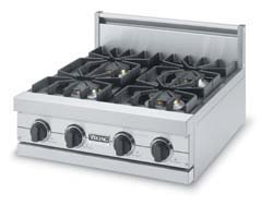 "Viking Blue 24"" Sealed Burner Rangetop - VGRT (24""W. rangetop; four burners)"