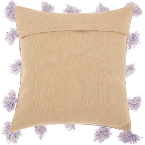 "Life Styles Dp005 Lavender 18"" X 18"" Throw Pillows"