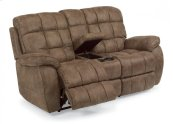 Nashua Fabric Power Reclining Loveseat with Console