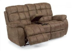 Nashua Fabric Power Reclining Loveseat with Console Product Image