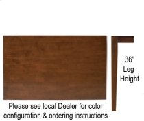 """30"""" x 48"""" Table w/ 36"""" Shaker Legs Http://www Product Image"""