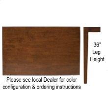 "30"" x 48"" Table w/ 36"" Shaker Legs Espresso & Almond"