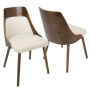 Anabelle Dining Chair - Walnut / Cream Product Image