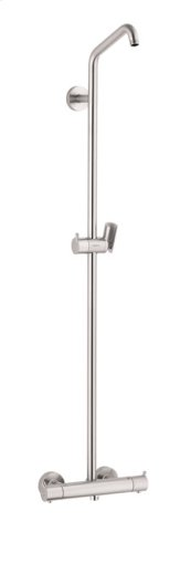 Brushed Nickel Showerpipe without Shower Components