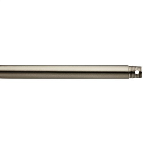 """Dual Threaded 24"""" Downrod Brushed Stainless Steel"""
