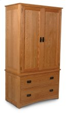 Prairie Mission Tall Armoire on Chest Product Image