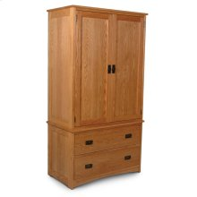 Prairie Mission Tall Armoire on Chest