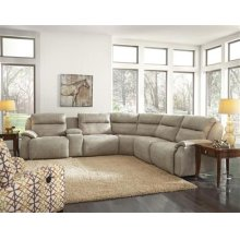 6pc recliner sectional