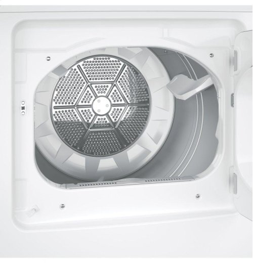 ***DISPLAY MODEL CLOSEOUT - CONVERTED FOR USE WITH LP*** GE® 7.4 cu. ft. Capacity aluminized alloy drum Gas Dryer with HE Sensor Dry