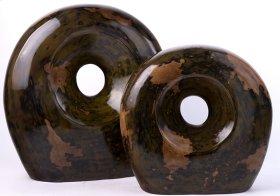 Moss- Black Finish Snail Scuplture ( BG) (Set 2)