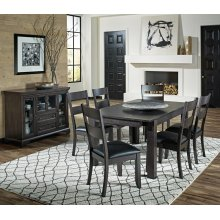 7 PIECE SET (TABLE AND 6 CHAIRS)