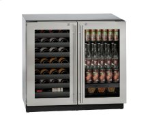 "Modular 3000 Series 36"" Beverage Center With Stainless Frame (lock) Finish and Double Doors Door Swing (115 Volts / 60 Hz)"