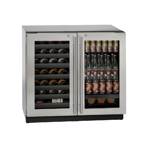 """Modular 3000 Series 36"""" Beverage Center With Stainless Frame (lock) Finish and Double Doors Door Swing (115 Volts / 60 Hz)"""