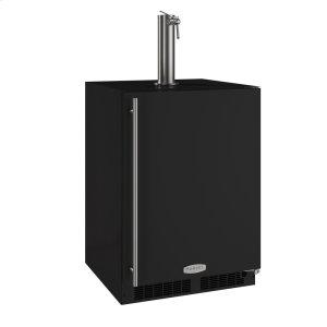 Marvel24-In Beverage Dispenser with Door Style - Black, Door Swing - Right